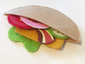Pita pocket made from melissa and doug felt food sandwich set