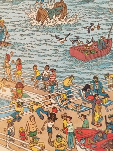 A close up from one of the scenes of Where's Waldo