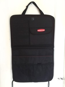 Rubbermaid back seat organizer hanging flat