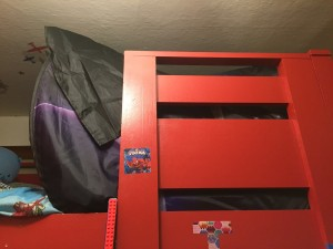 Dream Tent side view in loft bed