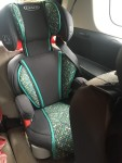 Graco TurboBooster highback to backless booster car seat in mosaic pattern
