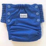 GroVia my choice trainer potty training cloth pants in topaz blue color with elastic sides and optional snaps