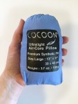 Cocoon brand inflatable travel pillow air core packable