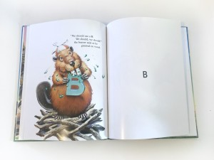 Page with the letter B and beaver from My Very Own Name picture book by I See Me