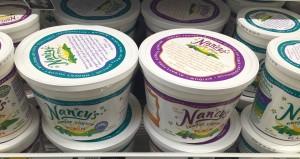 Nancy's lowfat yogurt in 64 ounce bucket containers