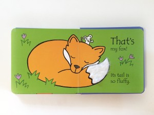Last page of That's not my fox by Usborne touchy feel blue book