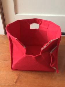 Riverridge broken storage bin in red