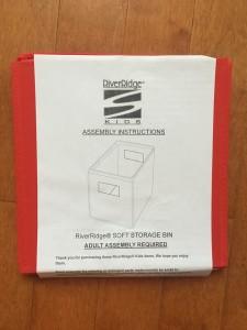 Riverridge kids soft storage bin in red folded flat