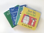 Board books by Sandra Boynton Blue Hat Green Hat Moo Baa La La La Going to Bed Books But Not the Hippopotamus