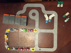 Driven pocket series road layout