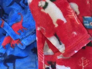 Brand new Hatley fleece next to year old fleece worn multiple times per week