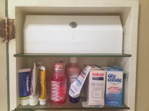 Prescription medicine cabinet lock inside medicine cabinet chest box with over the counter treatments