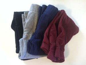 Fleece pants folded to pack