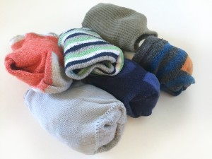 Toddler socks in pile