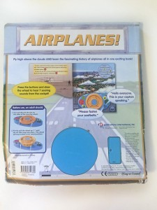 Airplanes steering wheel sounds buttons board book battery compartment