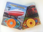 Steering wheel play a sound books with buttons airplanes trains titles