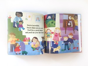 Pages inside super incredible big sister brother book personalized
