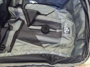 Velcro roll inside empty suitcase