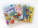 Berenstain bears books fanned out on white background
