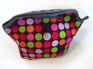 BYO lunch bag zipped close stuffed full