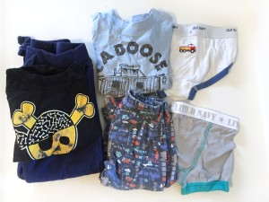Spare kid clothes kept in car in case of accidents