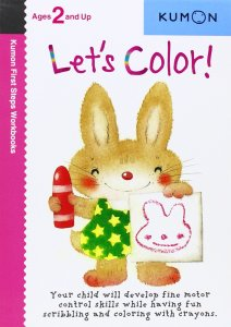 Kumon First Steps workbooks Let's color for ages 2 and up