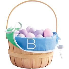 Monogrammed Easter basket liner from Target
