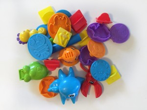 Play doh toys in a pile