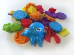 Play Doh undersea creations and mini number fun bucket set toys in pile