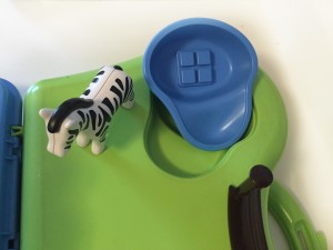 Removable pool from playmobil zoo take along play set