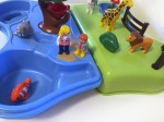 Playmobil 123 take along zoo and aquarium play set in blue and green carrying case water toy