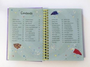 Table of contents from 50 Science Things to Make and Do