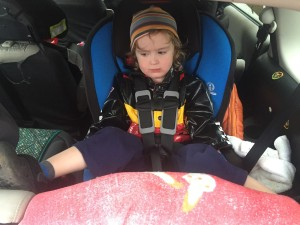 Three year old riding backwards in convertible car seat Britax Marathon