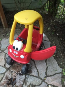 One door open on little tikes cozy coupe