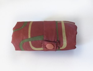 Envirosax sack rolled down to compact size