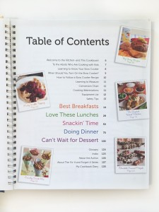Fix It and Forget it kids crockpot recipe cookbook table of contents