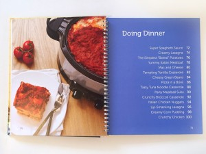 Dinner recipe list from Fix it and forget it slow cooker kids cookbook