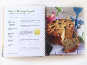 Broccoli corn bread crockpot recipe from kids cookbook
