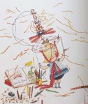 Rosie Revere Engineer book by Andrea Beaty close up illustration of main character with cheese spray hat