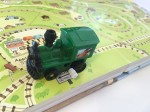 Wind up train on track from Usborne wind up train book