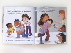 Page spread from babies come from airports book