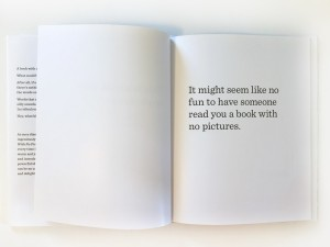 Book With No Pictures black text on white page