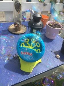 Fubbles Bubble Blastin battery operated bubble blowing machine