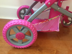Wheel treads on lissi deluxe convertible adjustable doll stroller