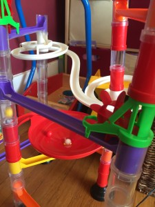 Quercetti marble run red funnel and spinning pieces
