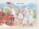 Page from sheep in a jeep by Nancy Shaw board book