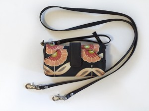 Whereabouts Wallet by PPB with removable wristlet and long shoulder strap