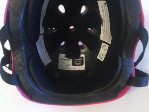 Inside of wipeout helmet