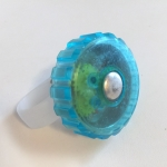 Jellibell incredibell bike bell translucent blue twist type