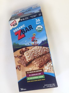 Box of 36 Clif Z Bars variety pack chocolate brownie, chocolate chip, and iced oatmeal cookie